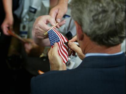 Bush & the flag code